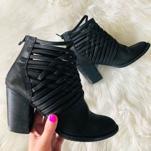 Target | Black Leather Booties